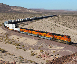 BNSF in the Mojave